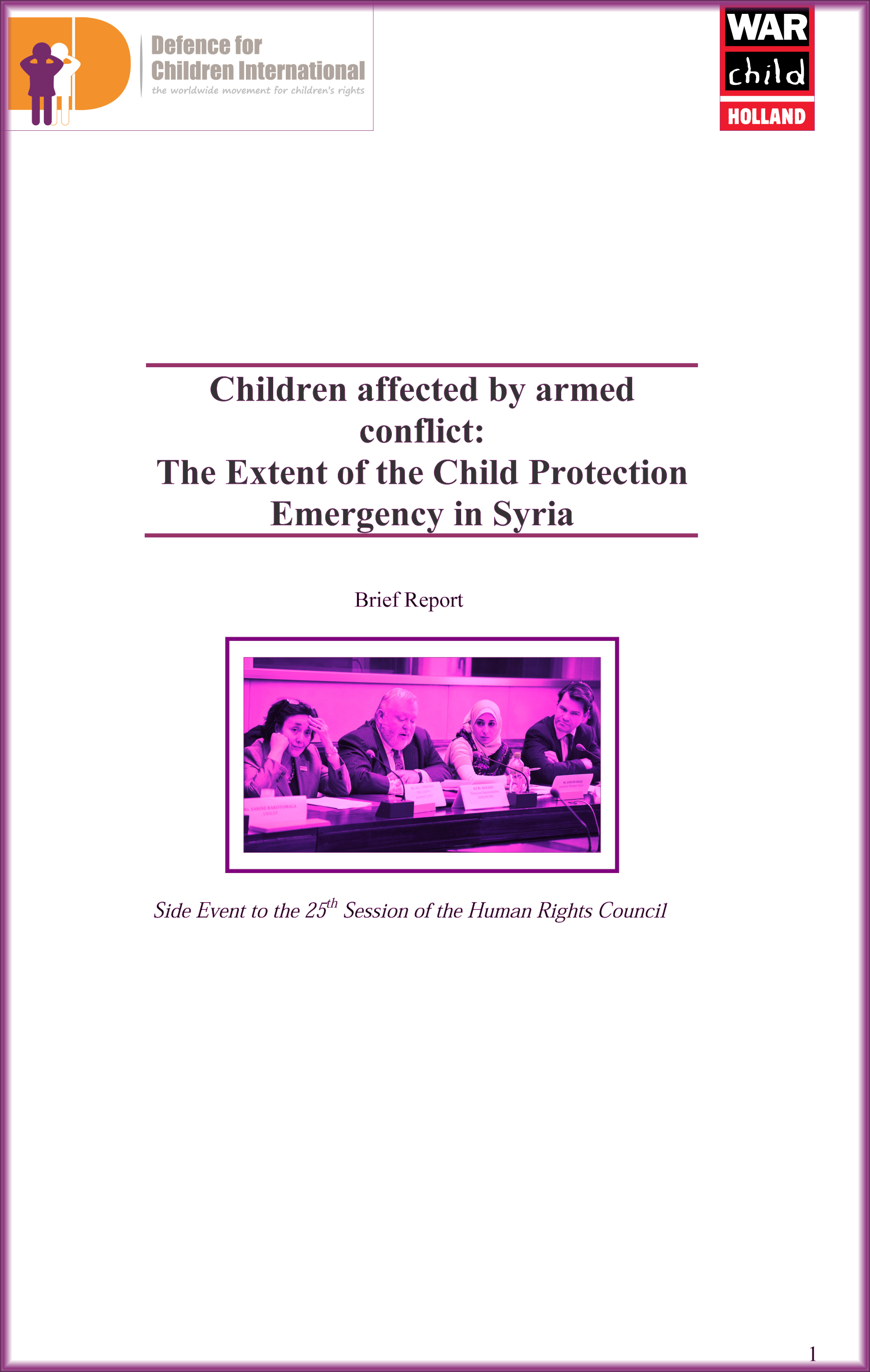 Report DCI WCH EventSyria HRC25 CoverPage